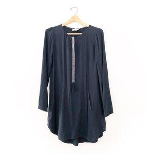 A.L.C. Dark Blue Shift Longsleeve Dress